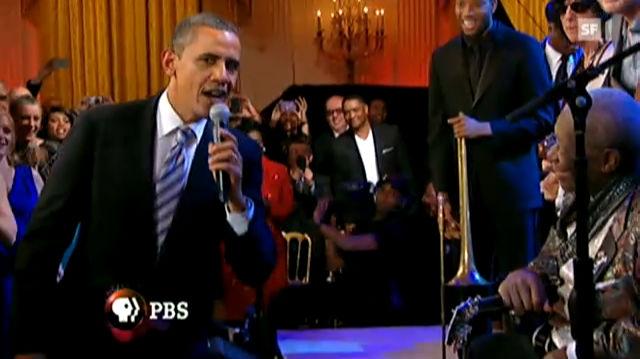 Obama singt den Blues