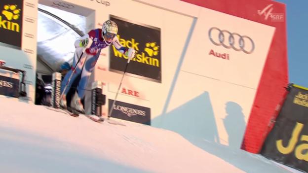 Video «Ski: Weltcup Frauen, Slalom Are, 1. Lauf Michelle Gisin» abspielen