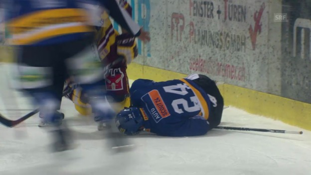 Video «Eishockey: Verletzung von Biels Eliot Berthon» abspielen