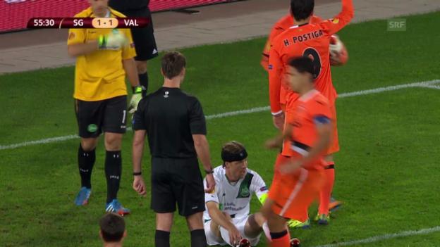 Video «Highlights St. Gallen - Valencia» abspielen