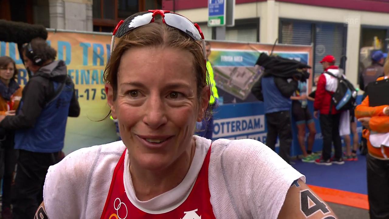 Rang 13 für Nicola Spirig in Rotterdam
