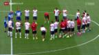 Video «Fussball: Nati vor dem EM-Quali-Spiel gegen Slowenien» abspielen