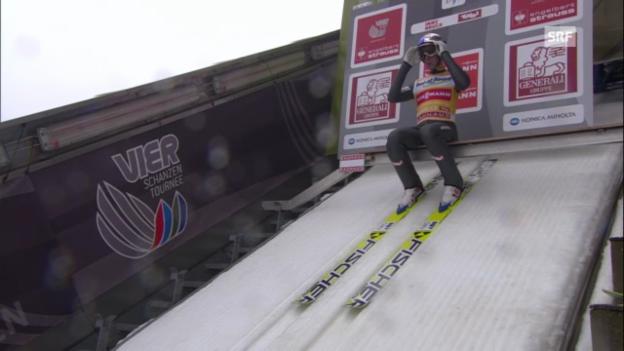 Video «Skispringen: 2. Sprung von Gregor Schlierenzauer in Innsbruck» abspielen