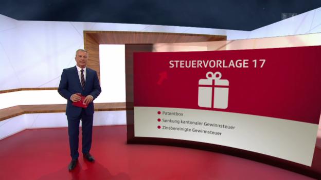 Video «Clariant-CEO live im Studio, Steuervorlage 17, Hotellerie Arosa» abspielen
