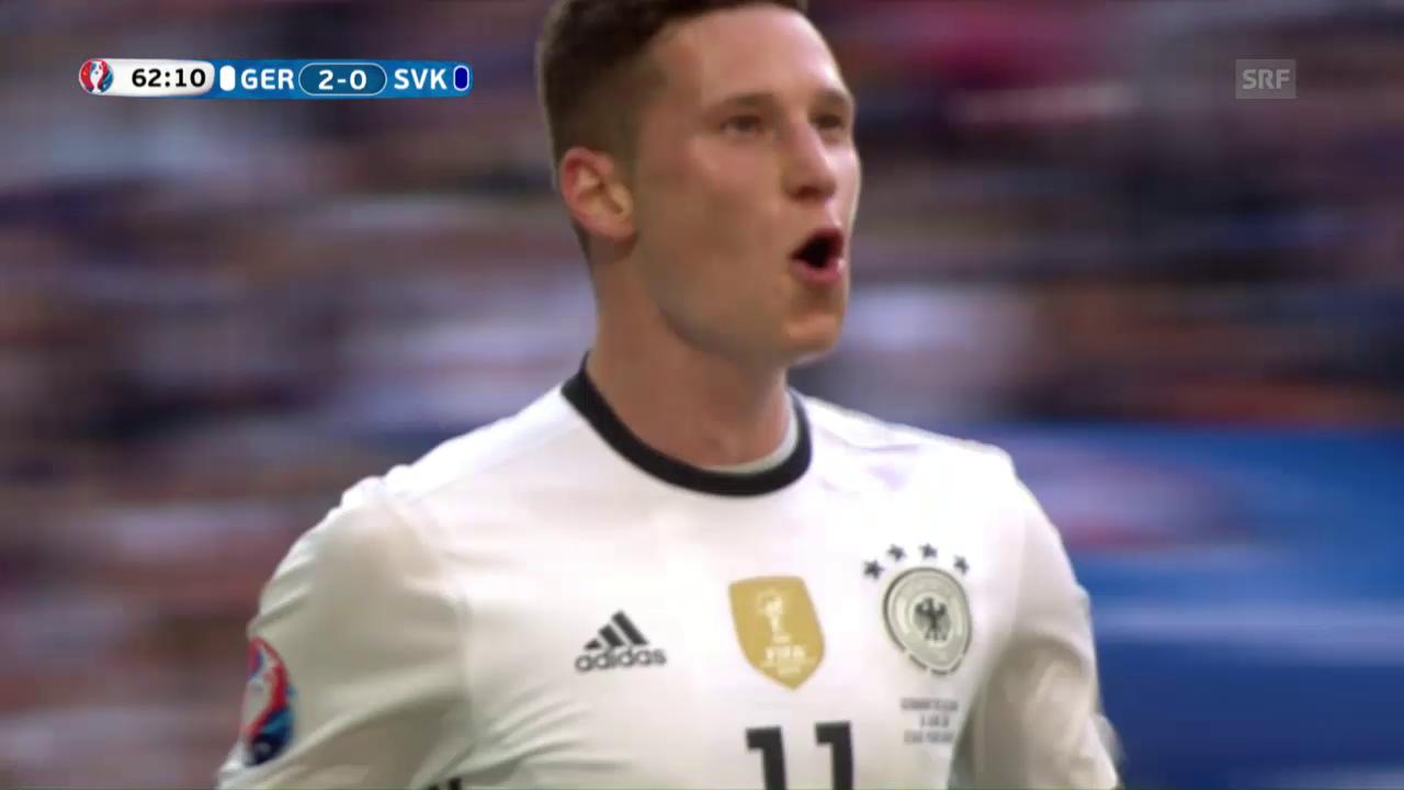 EM-Achtelfinal: Draxlers Traum-Volley zum 3:0 für Deutschland