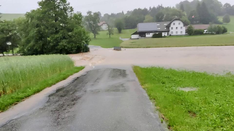 Hochwasser in Vordemwald/AG (Andrea Scheibler)
