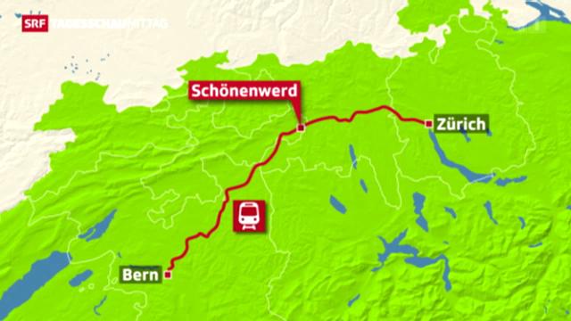 Personenunfall auf Strecke Zürich-Bern