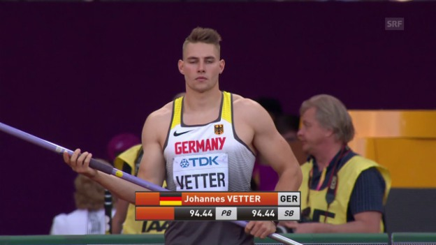 Video «91,2 Meter: Vetter brilliert in der Quali» abspielen