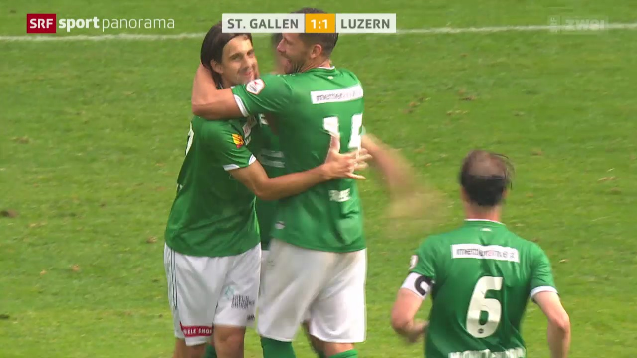 Fussball: Super League, St. Gallen - Luzern