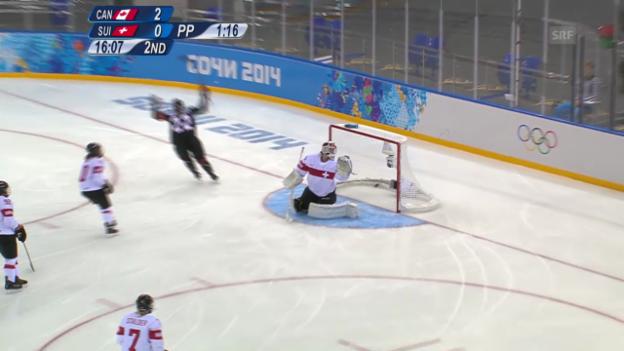 Video «Eishockey Frauen, Kanada-Schweiz (sotschi direkt, 08.02.2014)» abspielen