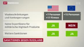 Video «USA und EU verschärfen Sanktionen gegen Russland» abspielen