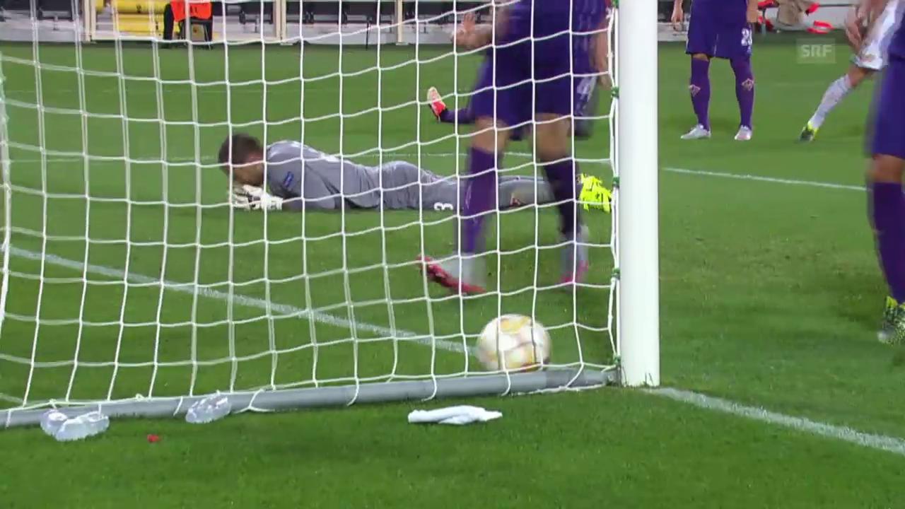 Fussball: Europa League, Fiorentina - Basel, 1:1 Bjarnason