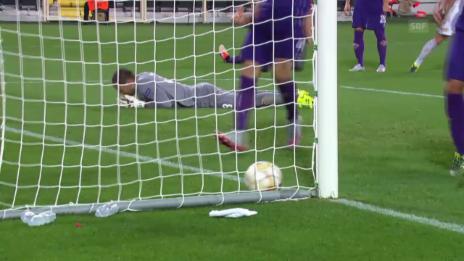 Video «Fussball: Europa League, Fiorentina - Basel, 1:1 Bjarnason» abspielen