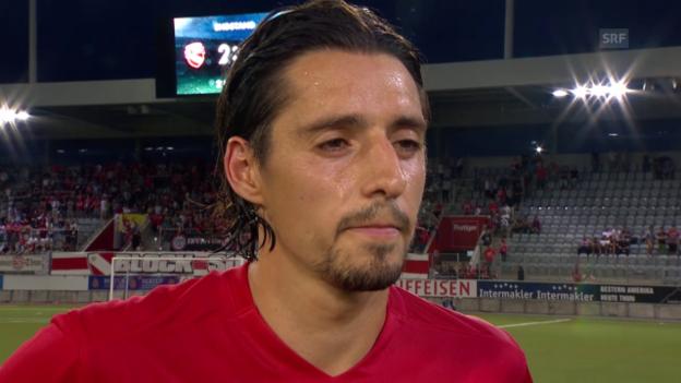 Video «Fussball: Europa League 2015/16, 2. Qualifikationsrunde, Thun - Beer Scheva, Nelson Ferreira» abspielen