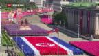 Video «Nordkorea feiert siebzigsten Geburtstag mit Militärparade» abspielen