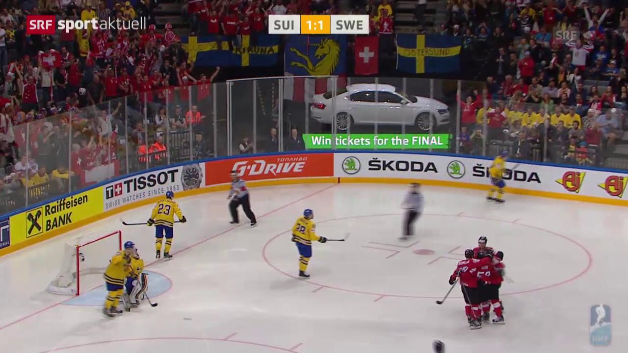 Eishockey: WM, Schweiz - Schweden