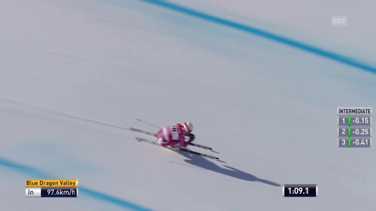 Kjetil Jansrud fährt auf der Olympia-Strecke Bestzeit
