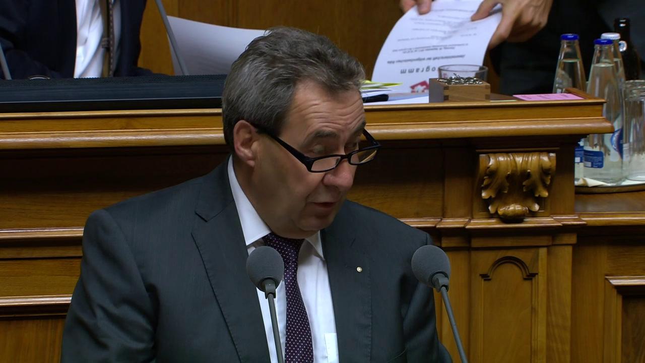 Heinz Siegenthaler BDP/BE: «CH kann nicht Lebensmittelpolizist sein.»