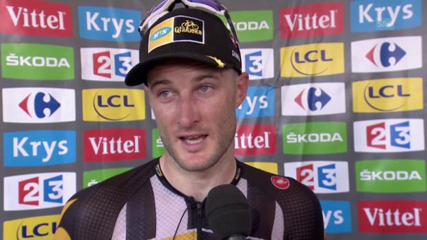 Video «Rad: Tour de France, 14. Etappe, Interview Steven Cummings» abspielen