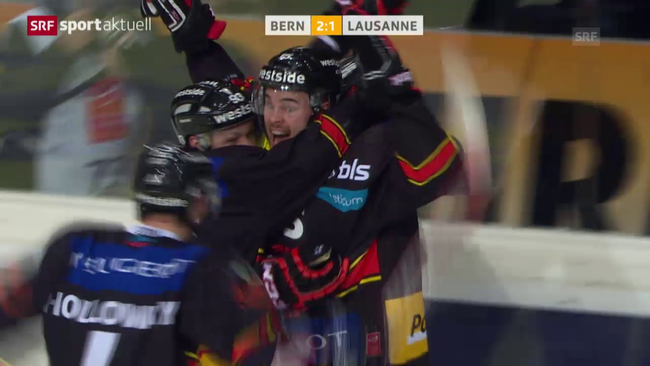 Eishockey: NLA, Bern - Lausanne