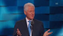 Video «Bill Clinton über seine Frau Hillary (englisch)» abspielen