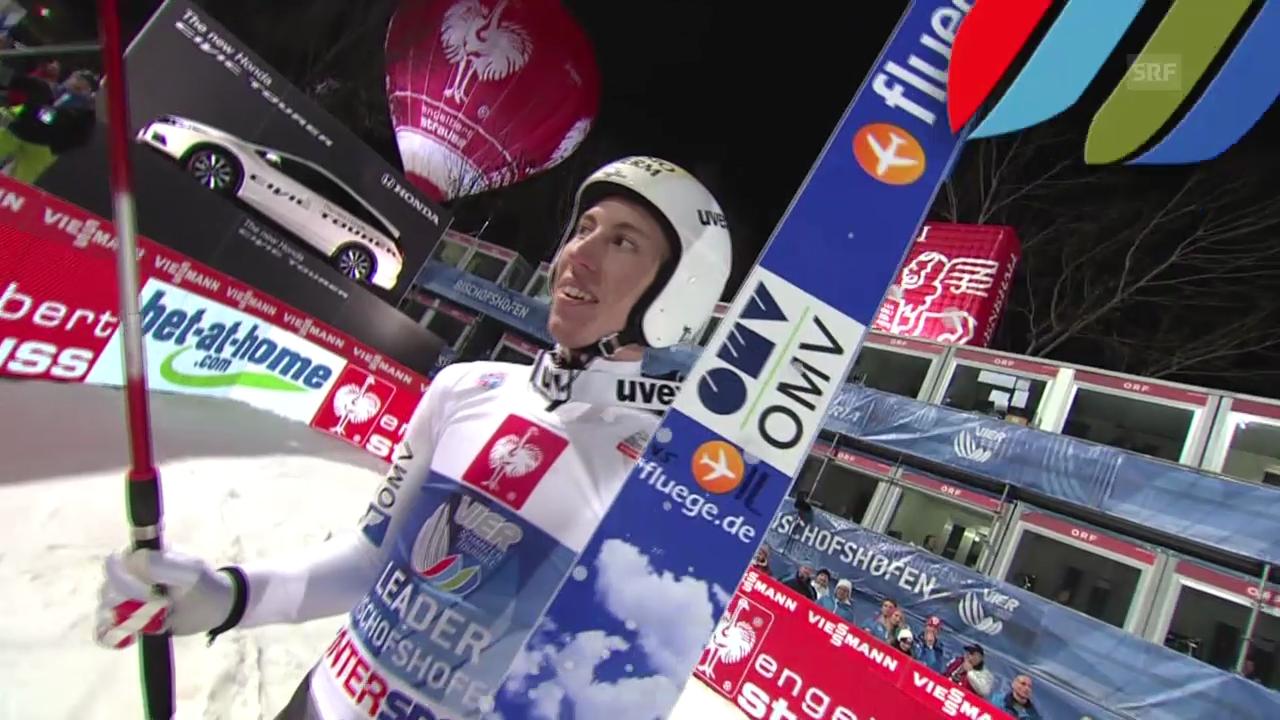 Skispringen: 2. Sprung von Thomas Diethart in Bischofshofen («sportlive», 06.01.2014)