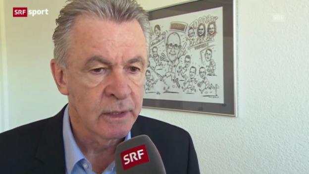 Video «Interview mit Ottmar Hitzfeld («sportaktuell»)» abspielen