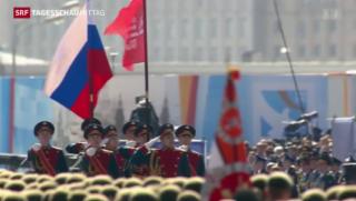 Video «Russische Feierlichkeiten zum Ende des Zweiten Weltkriegs» abspielen