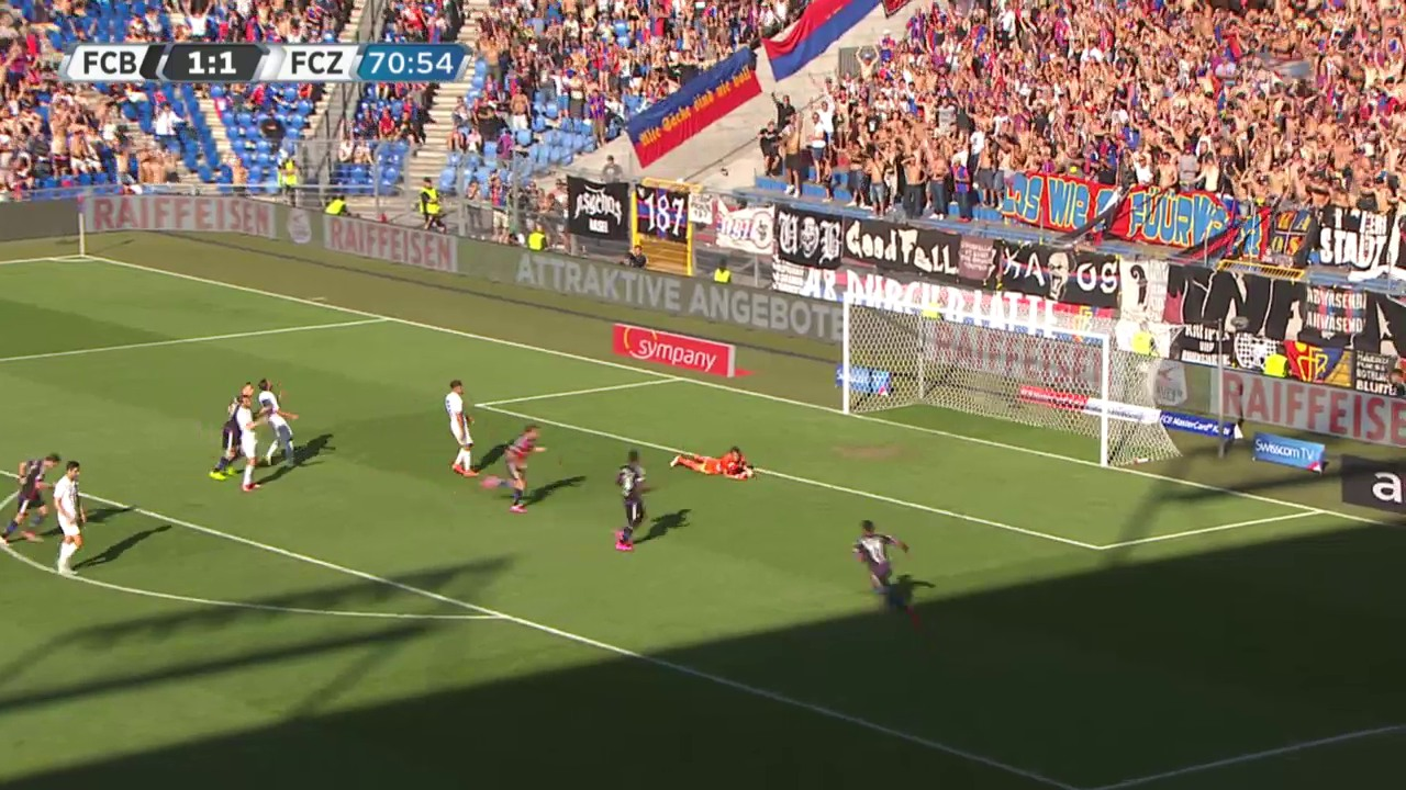 Fussball, Superleague, FCB-FCZ, 2:1 Basel Gashi