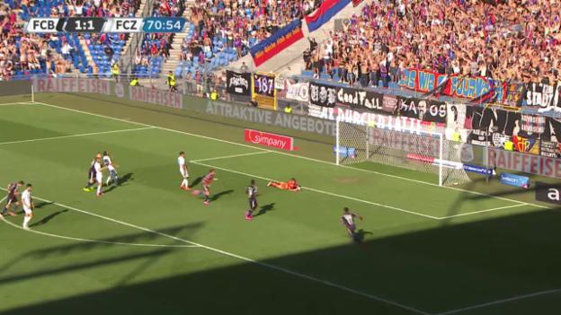 Video «Fussball, Superleague, FCB-FCZ, 2:1 Basel Gashi» abspielen