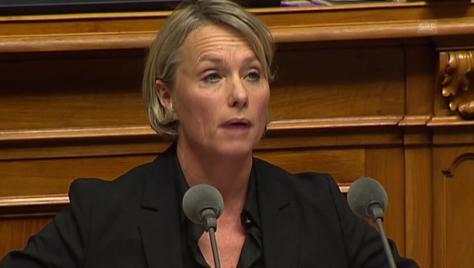 CVP-Nationalrätin Schneider-Schneiter verteidigt das Abkommen