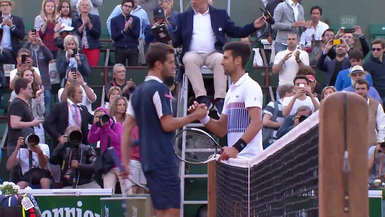 Djokovic gegen Ramos-Vinolas ohne Satzverlust