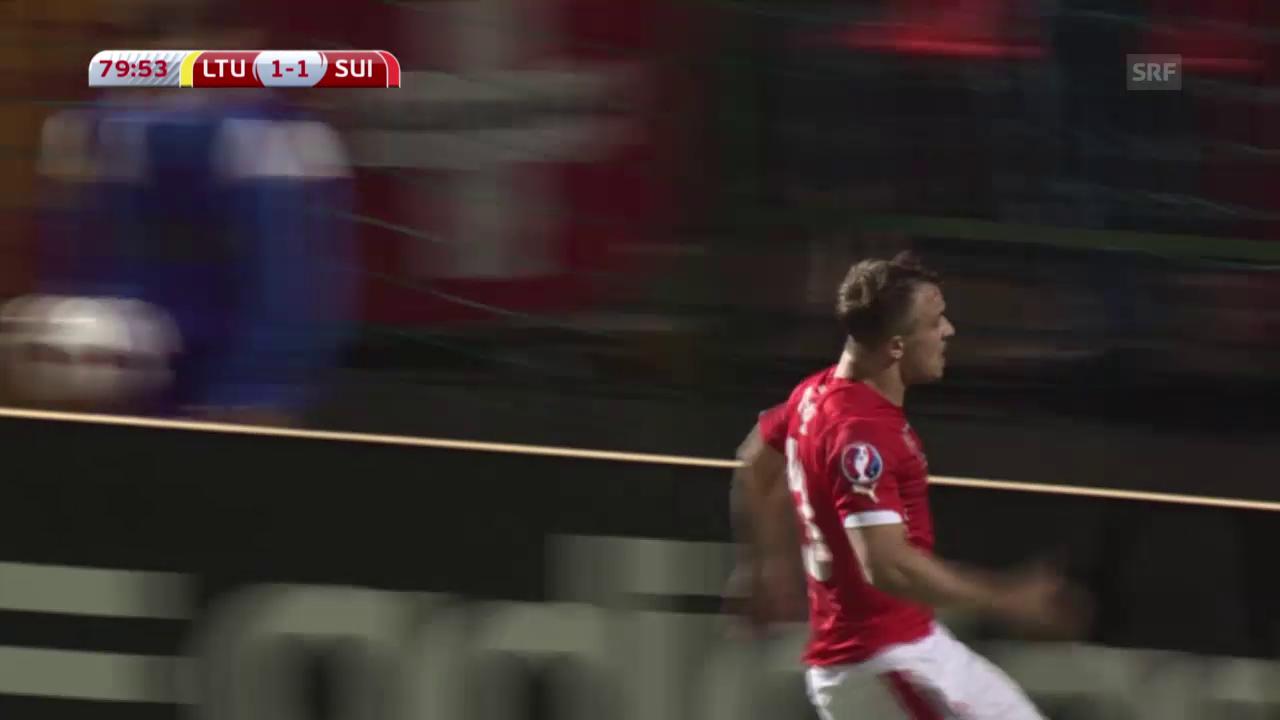 Fussball: EM-Quali, Litauen-Schweiz, Live-Highlights