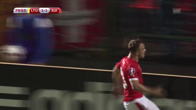 Video «Fussball: EM-Quali, Litauen-Schweiz, Live-Highlights» abspielen