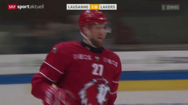 Video «Eishockey: NLA, Lausanne - Lakers» abspielen