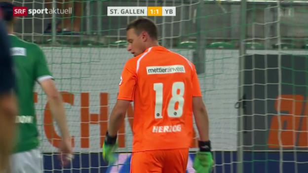 Video «Fussball: Super League, St. Gallen - YB» abspielen