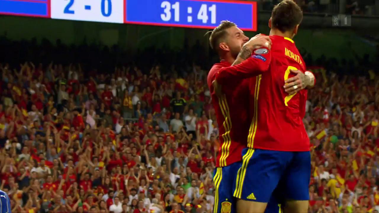 Fussball: WM-Quali, Spanien - Italien