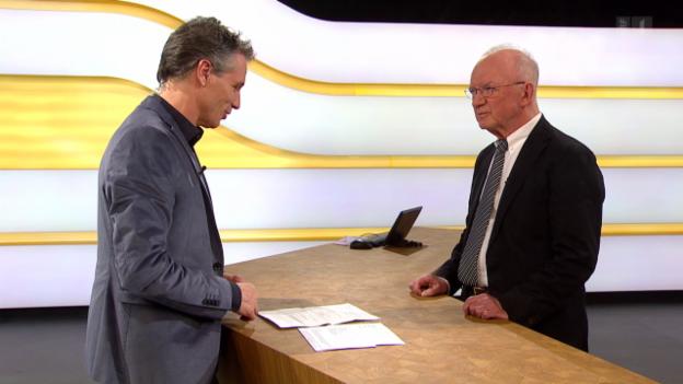 Video «Studiogespräch mit Roger Zäch, emeritierter Professor für Wirtschaftsrecht» abspielen