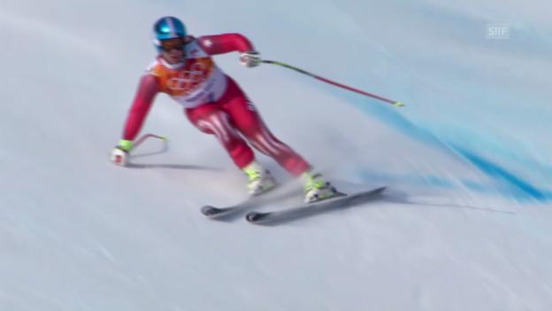 Video «Ski, Super-G, Fahrt von Beat Feuz (sotschi direkt, 16.02.14)» abspielen