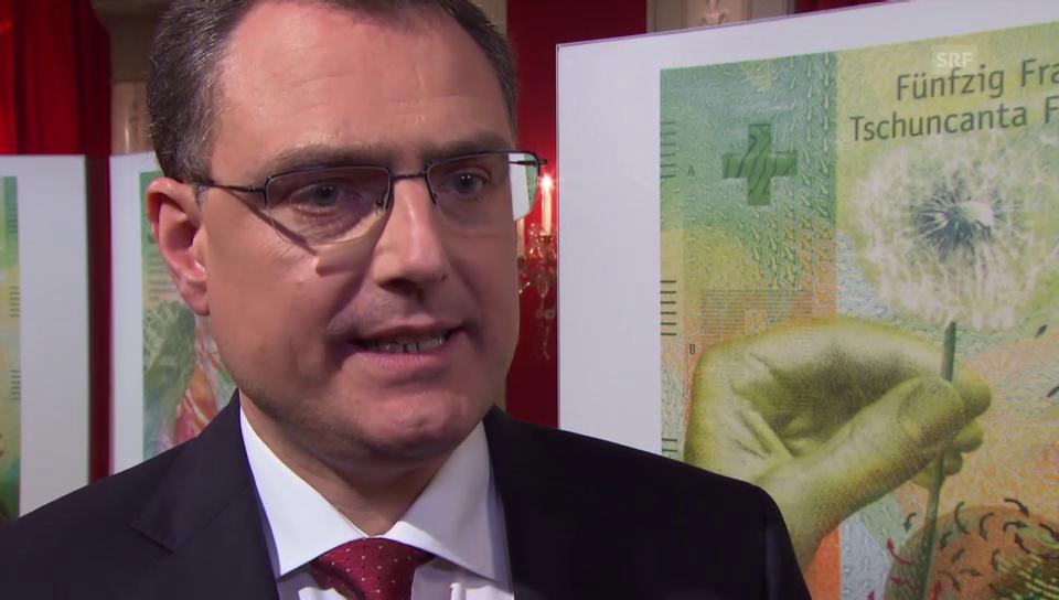SNB-Präsident Jordan zu den neuen Banknoten