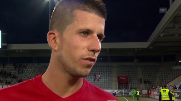 Video «Fussball: El-Quali, Thun-Vaduz, Interview mit Sandro Wieser» abspielen