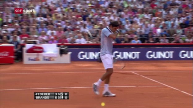 Video «Tennis: Federer - Brands» abspielen