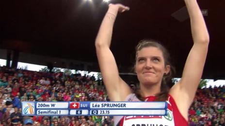 Video «Leichtathletik: Lea Sprunger verpasst 200-m-Final» abspielen