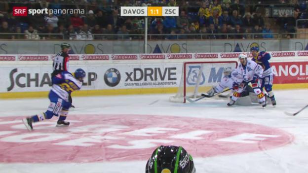 Video «Eishockey: Davos - ZSC» abspielen