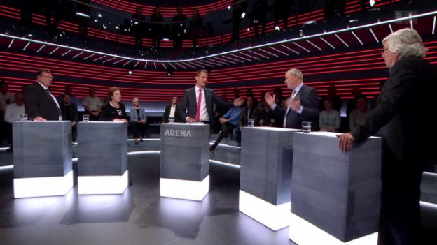 Video «Wahl-«Arena»: Abtretende Politiker plaudern aus dem Nähkästchen» abspielen