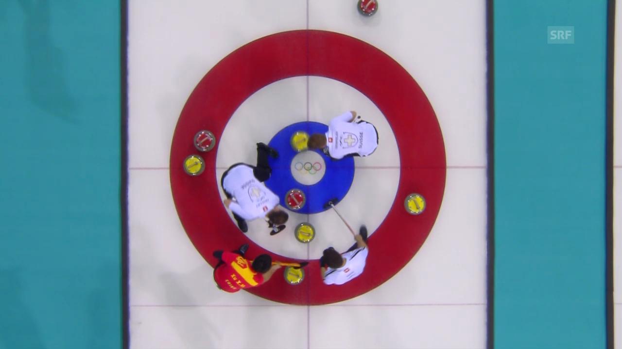 Curling: Zusammenfassung Schweiz - China (12.02.2014)
