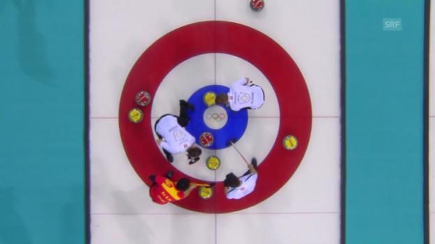 Video «Curling: Zusammenfassung Schweiz - China (12.02.2014)» abspielen