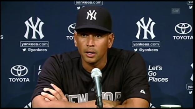 Video «Baseball: Alex Rodriguez spricht über Doping-Urteil (englisch)» abspielen