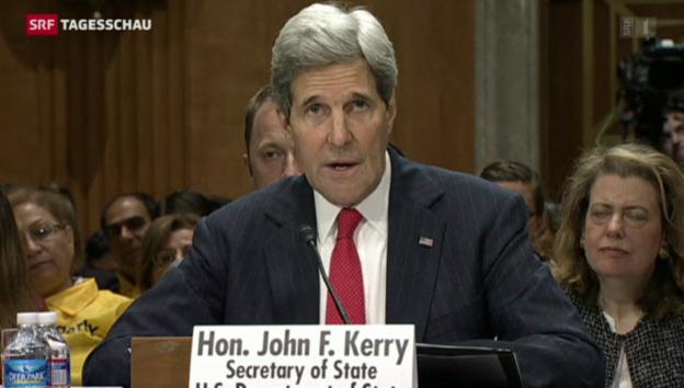Video «John Kerry verschärft Ton gegenüber Moskau» abspielen