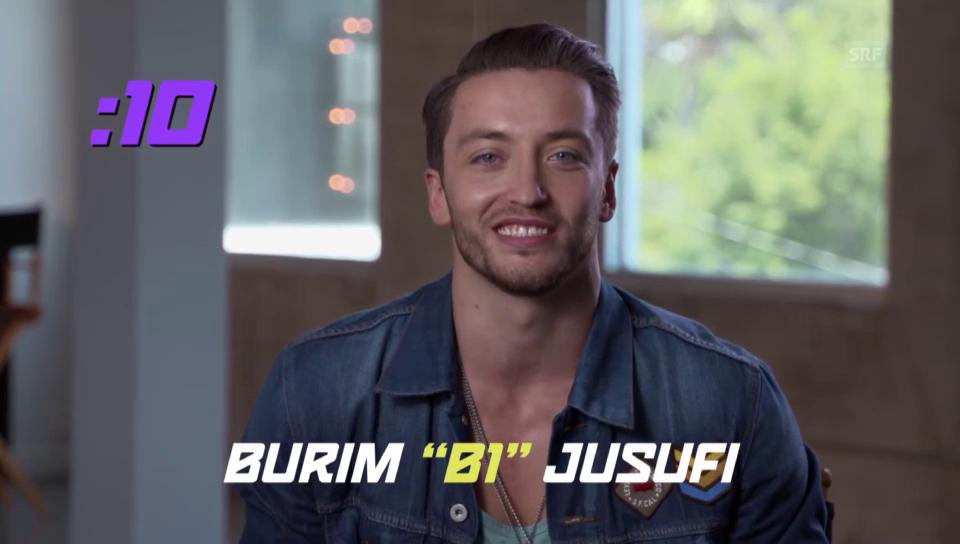 So präsentiert sich Burim Jusufi in der «Fox»-Castingshow (Englischer Originalton)